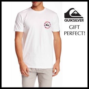 QUICKSILVER HAWAII GRAPHIC TEE WHITE T-SHIRT A2C